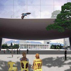 12 modos de representar atmosferas arquitetônicas através de colagens,Projeto: Skanderbeg square. Cortesia de 51n4e