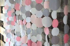 Pink and Gray wedding garland set for wedding backdrop