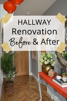 Hallway Renovation: Before and After - Caradise Want some inspiration to brighten up your hallway? See my hallway renovation – before and after Entrance Decor, House Entrance, Entrance Ideas, Hallway Decorating, Interior Decorating, Decorating Ideas, Decor Ideas, Interior Lighting, Lighting Design