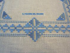 This Pin was discovered by Joa Hardanger Embroidery, Cross Stitch Embroidery, Hand Embroidery, Embroidery Designs, Bargello Needlepoint, Drawn Thread, Simple Cross Stitch, Border Pattern, Blackwork