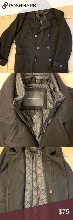 Marc New York designer jacket with zip lining Zip Lining, Jacob Black, Trench Coats, Black Wool, Fashion Tips, Fashion Design, Fashion Trends, Cold Weather, Marc Jacobs