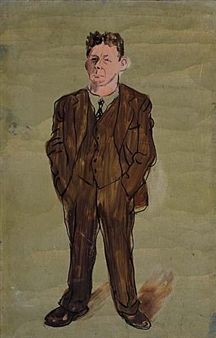 Man in Suit, with Hands in Pockets By Ben Shahn