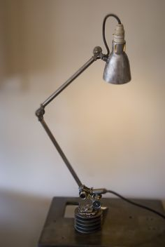Killer lamp from brown dress with white dots!