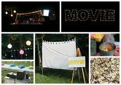 open air kino kreative gartenideen freiluft kino decke stimmung beispiel