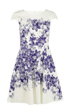 Floral cotton dress | Luxury Women's dresses | Karen Millen