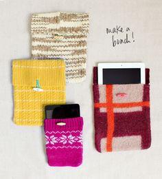 DIY sweater tech covers via @bri emery / designlovefest