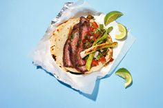 Roy Choi's carne asada — grilled meat — might raise eyebrows in Puebla and Laredo alike. There is mirin in the marinade and a lot of garlic. But there is purity to its expression of urban Southern California. This is a recipe to expand minds, a delicious take on a venerable classic. (Photo: Marcus Nilsson for The New York Times)