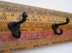 reuse ideas | Recycling Old Wood Rulers for Interior Decorating, 12 DIY Wall Decor ...