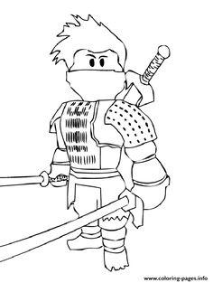 Print roblox ninja coloring pages