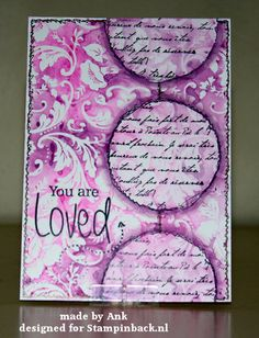 STAMPINBACK.NL rubber stamps: You are Loved