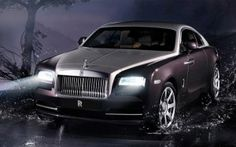 New rolls royce wraith has been known as most powerful rolls royce ever.624 horse power of rolls royce wraith engine enables car to travel 150km/h in 5 sec.