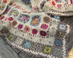 Circus granny square made with hand-dyed yarns - beautiful and creative.