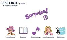 Surprise!, Inglés de 3º Nivel de Educación Primaria, de Editorial Oxford, contiene actividades interactivas complementarias al material didáctico de este nivel.