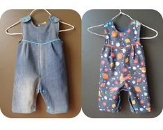 PUPPY reversible Romper sewing pattern Pdf, Overall, Dungaree, children toddler, Baby Girl Boy newborn 3 6 9 12 18 m 2 yrs Instant Download: