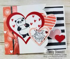 Party Pandas Valentine Card Idea | Patty's Stamping Spot | Bloglovin'
