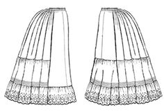 My historically accurate Victorian petticoat - sewn in black cotton with black lace.