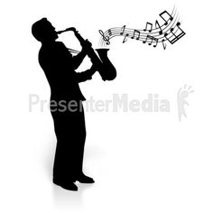 Silhouette Saxophone Player Notes - Signs and Symbols - Great ...