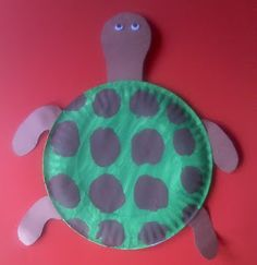 Sea Turtle Craft for Preschoolers. #crafts #preschool #painting