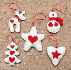 Craft: Christmas Figurines - Home Felt Christmas Decorations, Christmas Figurines, Felt Christmas Ornaments, Homemade Christmas Gifts, Handmade Christmas, Christmas Crafts, Christmas Christmas, Christmas Ideas, Christmas Projects