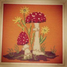 Mushroom cross stitch I found. Its in my kitchen.