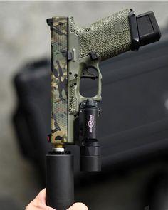 Weapons Guns, Guns And Ammo, Custom Glock, Custom Guns, Nautilus, Tactical Equipment, Tactical Gear, Camo Guns, Tactical Accessories