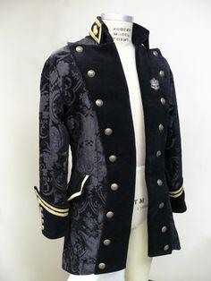 custom stunning period coat w/ vintage gold bullion Steampunk Victorian Men's / Officer's Frock Coat 1800′s size 40R