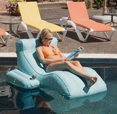 I want for my pool! New Huge Floating Lounge Chair pool raft lake float + Battery Powered Pump Floating Lounge Chairs, Pool Lounge Chairs, Lake Floats, Pool Floats, Above Ground Pool, In Ground Pools, Swimming Pool Toys, Pool Rafts, Pool Supplies