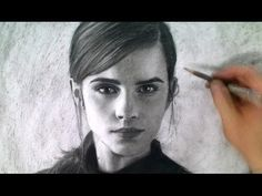 Drawing Emma Watson Portrait Art Video - Beauty and the Beast - YouTube