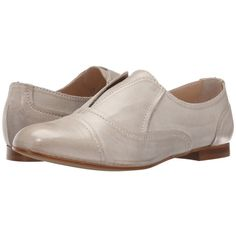 Massimo Matteo Laceless Oxford (Grigio) Women s Slip on Shoes ( 100) ❤ liked 433db21d314