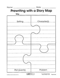 Story map puzzle template