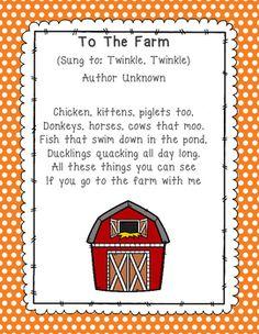 Farm Songs & Fingerplays Preschool Farm Theme Small World Play preschool farm animal art Farm Animal Songs, Farm Songs, Farm Animal Crafts, Farm Crafts, Preschool Poems, Farm Animals Preschool, Preschool Music, Songs For Toddlers, Kids Songs