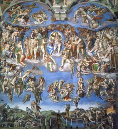 Michelangelo, Last Judgement, fresco on altar wall of Sistine Chapel, 1536-41