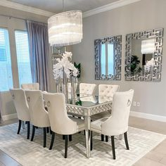 Designed by @silverinteriordesign Dining Table, Dining Chairs, Furniture, Rugs, Table, Home, Area Rugs, Home Decor, Room