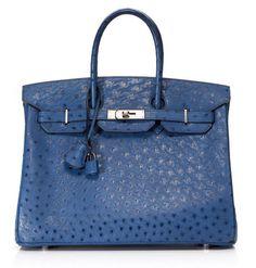 Birkin by Hermes #blue #bag #hermes