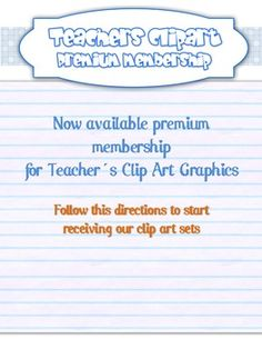 Teacher´s clip art Premium members will receive one complete FREE clip art set (via email) from us every sunday of the year for twelve months!Fr...