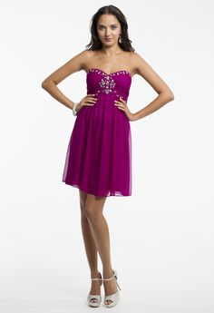 Strapless Beaded Short Dress by Camille La Vie & Group USA