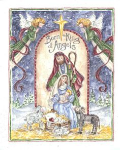Jesus Nativity Holy Family ~ Born the King of Angels by Shelly Rasche