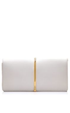 Shop Foldover Leather and Suede Clutch by Nina Ricci Now Available on Moda Operandi