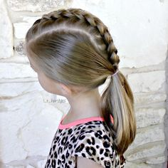 Inspired by @tinkerbeanpoplettes_hairdesign. Dutch braid down the middle into a low pony. . . . #hairinspiration #hairstylesforgirls #hairstylesforlittlegirls #braids #braidsforgirls #braidsforlittlegirls #dutchbraid #littlegirlhair #littlegirlhairideas #littlegirlhairstyles