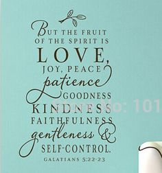 Large size bible verse decal   The fruit of the Spirit   Vinyl Wall Decal art…