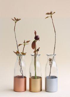 Petite Metallic Vases - Set of 3