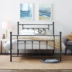 Metal Canopy Bed, Metal Beds, Headboard And Footboard, Headboards For Beds, Beds Online, Bed Reviews, Black Bedding, Adjustable Beds, Modern Farmhouse Style