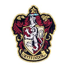"""Harry Potter House of Gryffindor House Hogwarts Crest Robe Patch 4 1/2"""" Inch"""