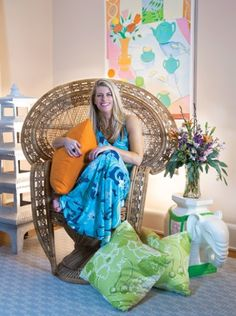 Peacock wicker chair in natural finish.   What room would you put this Lilly Pulitzer wicker peacock chair in.   This is the perfect accent for your Palm Beach Regency home.   Nothins says Palm Beach Chic in home design like Lilly Pulitzer.