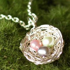 """Custom Easter Nest Pendant,"" by themantrap, via Etsy"
