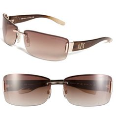 AX Armani Exchange Rimless Sunglasses available at Lv Shoes, Glasses Brands, Four Eyes, Cruise Wear, Dress Brands, Sunglasses Accessories, Nordstrom, Style Inspiration, My Style