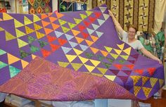 Marie and her many talents! You should see the hand quilting on this quilt..