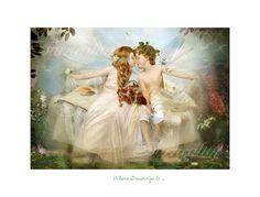 Fine art Fairy Print    ' Where Dreams go by CharlotteBirdfairies, $32.00