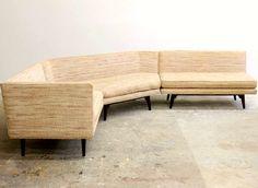 Edward Wormley; Sectional Sofa for Dunbar, 1950s.