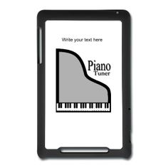 Piano Tuner Nexus Tablet Case by PersonalizedSouvenirs.com.